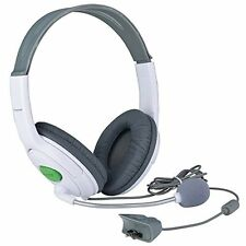 Big Gaming Chat Headset Headphone with MIC Microphone for Xbox 360 Live White