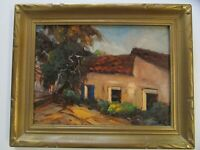 VINTAGE IMPRESSIONISM PAINTING BY SYLVIA LOVE AMERICAN CALIFORNIA LANDSCAPE OLD