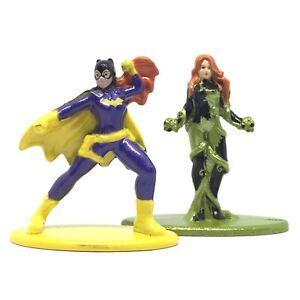 Jada DC Comics Nano Metalfigs Batgirl & Poison Ivy Die-Cast Action Figure Toy