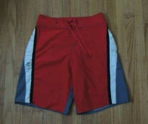 Quiksilver Surf Boardshorts Red Swim Trunks Mens Size 28