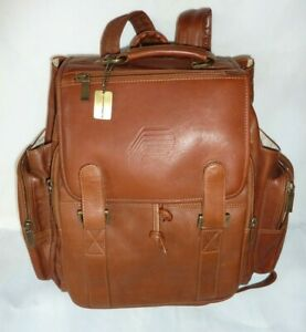 Claire Chase Tan Brown Leather Bag Legendary Jumbo Backpack 600004991962