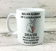 KILLER RABBIT OF CAERBANNOG GIFT MUG CUP MONTY PYTHON HOLY GRAIL SPAMALOT TIM