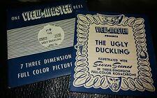 Sawyers Vintage View Master Reel-The Ugly Duckling Raro FT9 + Folleto De Historia