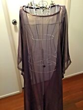 PURPLE GOLD FOIL CHIFFON LONG SLEEVE CAFTAN KAFTAN PLUS SIZE AU 14-24 US10-20