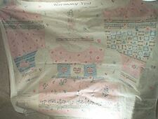 New listing Fabric Sewing Harmony Vest Blue Pink Music Notes New
