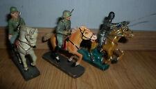 rare lot prewar LINEOL german wehrmacht soldier on horse - WWII