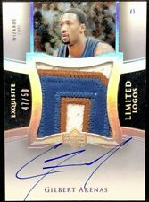 GILBERT ARENAS 04-05 Upper Deck Exquisite LIMITED LOGOS JUMBO PATCH AUTO #47/50!