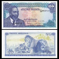 Kenya 20 Shillings, 1978, P-17, Banknote, UNC