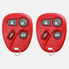2 Car Fob Keyless Entry Remote Red For 2001 2002 2003 2004 2005 Chevrolet Malibu