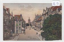 1866, Elbing Alter Markt tolle Color Straßenkarte von Trinks !