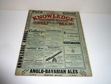 KNOWLEDGE AN ILLUSTRATED MAGAZINE OF SCIENCE LITERATURE & ART DATED 1901