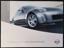 Nissan 350Z Genuine Accessories Brochure 2004