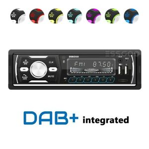 1 DIN DAB+ RDS AM FM Car Stereo MP3 Player Blue Radio Audio Bluetooth USB SD AUX