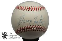 George Foster Autographed Baseball Bid Red Machine deBeer MLB Cincinnati & Case