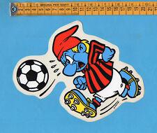 ADESIVO/STICKER- PUFFO (2) CON MAGLIA MILAN - vintage anni 80-GRANDE cm.15X19