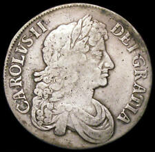 More details for 1673 charles ii silver crown 3 over 2 in date bull 393 rare