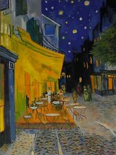"Vincent Van Gogh ""Cafe Terrace at Night"" Oil Painting On Canvas 18""x24""."