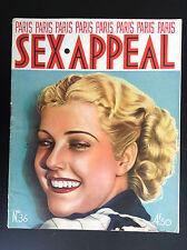 Rare Revue magazine Paris Sex Appeal N° 36  NU Erotisme  BON ETAT