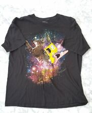Spongebob Squarepants Black T-shirt Size XXL 2XL Patrick Galaxy Cat