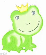 "4"" LAMBS IVY FROGGY TALES FROG PRINCE  NURSERY PREPASTED WALL BORDER CUT OUT"