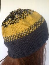 Beanie Hat Beret Slouch Hand Knit Multicolor Women Teen Designer Fashion Hip Chi