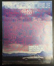 1986 Olds Oldsmobile Dealer Catalog Sales Literature