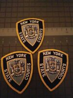 """3-NY Court Officer  VINTAGE  Patches Size --3 1/2 """" X 4""""  - You Get 3 Patches -"""