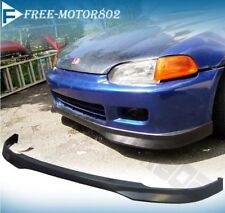 FOR 92-95 HONDA CIVIC EG 2 3DR TYPE R FRONT BUMPER LIP SPOIER PU HATCHBACK COUPE