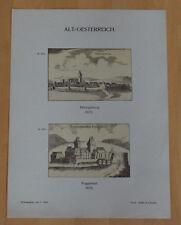 Herzogenburg und Roggendorf - Lithographie Alter Druck 1897 Österreich