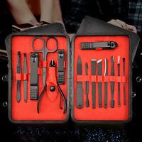 15Pcs Nail Cut Cutter Kit Set Professinal Cuticle Clippers Pedicure Manicure HL