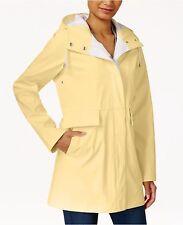 RACHEL Rachel Roy Womens New Two-Tone Raincoat  Yellow M $150 #33-122