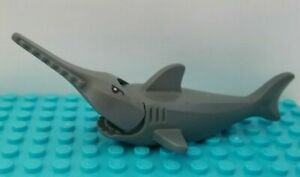 Lego SHARK Sawtooth Sword Fish Saw Tooth Teeth Long Blade Mouth Opens Ocean