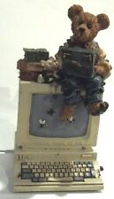 Boyds Bearstone Neville Computer NINE TO FIVE Music Box NIB  1E/1844 Ret. 1999