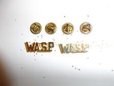 0213p WW2 US Army Women's Air Force Service Pilot WASP Collar Brass Pair R22D