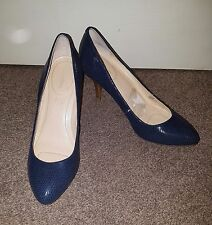 Calvin Klein Blue Used Pre Owned Ladies Size 5 38 Women Office Work Party
