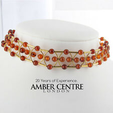 Italian Handmade German Amber Necklace/Choker in 18ct Gold GN0107 RRP£2750!!!