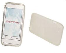 Silikon TPU Handy Hülle Cover Case Schale Schutzhülle in Foggy für HTC One V