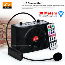 Portable Amplifier Teaching Guiding Speaker Voice Booster PA Headset Microphone