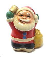 Vintage painted terra cotta ceramic Santa Claus pencil sharpener