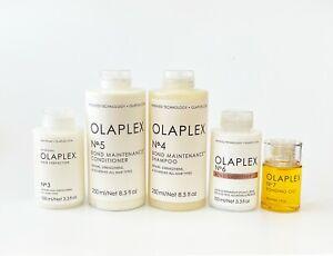 Olaplex No 3 Perfector, No 4 Shampoo, No 5 Conditioner, No 6 Smoother & No 7 Oil