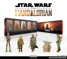 FiGPiN Classic The Mandalorian Deluxe Box Set 5 Star Wars Logo Pin LE2900 Disney