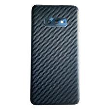 Samsung Galaxy S10e Lite BLACK Carbon Fibre Skin Sticker Cover Vinyl Wrap Rear
