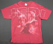 Rare VTG Star Wars Jedi Luke Yoda Obi-Wan 1998 Single Stitch T Shirt 90s Red XL