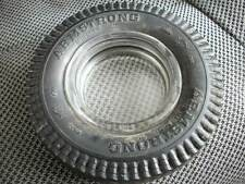 Rubber tire Armstrong ash tray with glass insert vintage