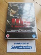 M:I Mission Impossible 1,2,3 & 4 (DVD Box Set) Ghost Protocol Tom Cruise MI