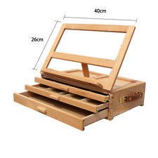 Artist Lightweight Beech Wood Tabletop Portable 3-Drawer Desk Easel with Storage