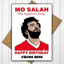 Liverpool FC Mo Salah Personalised Birthday Card Any Name or Relative