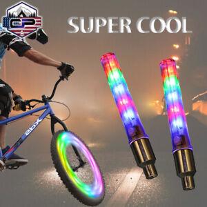 2 Packs Bicycle Waterproof 32 LED Bike Rim Lights for MTB Wheel Tire Valve Spoke