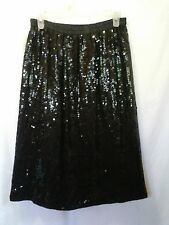 SCARLET RAGE BY ALBERT PAUL SEQUIN AND BEADED SILK  SKIRT NWT SIZE M