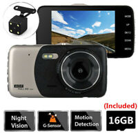4'' LCD HD Car Camera DVR Night Vision Vehicle Camcorder Dash Cams With SD Card